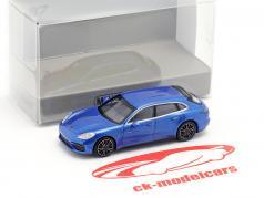 Porsche Panamera Turbo S E-Hybrid Sport Turismo 2017 azul metálico 1:87 Minichamps