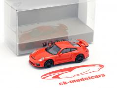 Porsche 911 GT3 Baujahr 2017 orange 1:87 Minichamps