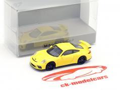 Porsche 911 GT3 ano de construção 2017 amarelo 1:87 Minichamps