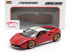 Ferrari 488 GTB The Lauda 70th Anniversary Collection rouge / blanc 1:18 Bburago