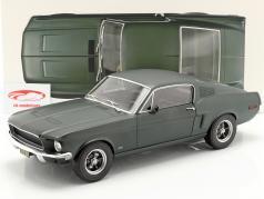 Ford Mustang Fastback coupe ano de construção 1968 cetim verde metálico 1:12 Norev