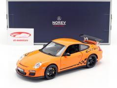 Porsche 911 (997 II) GT3 RS Bouwjaar 2010 oranje 1:18 Norev