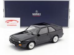 Audi Sport quattro año de construcción 1985 negro 1:18 Norev