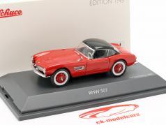 BMW 507 com hardtop vermelho / preto 1:43 Schuco