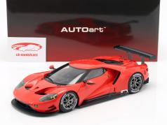 Ford GT LeMans Plain Body Version vermelho 1:18 AUTOart