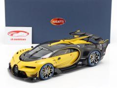 Bugatti Vision GT anno di costruzione 2015 midas giallo / carbon nero 1:18 AUTOart