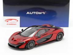 McLaren P1 année de construction 2013 volcan rouge 1:18 AUTOart