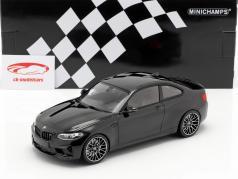 BMW M2 Competition anno di costruzione 2019 nero metallico 1:18 Minichamps