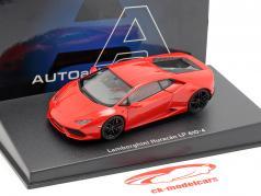 Lamborghini Huracan LP610-4 ano 2014 vermelho 1:43 AUTOart