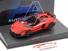 Lamborghini Aventador J Roadster Baujahr 2012 rot / schwarz 1:43 AUTOart