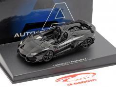Lamborghini Aventador J Roadster 年 2012 黒 1:43 AUTOart
