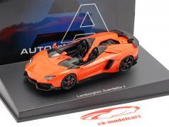 Lamborghini Aventador J Roadster Ano 2012 laranja / preto 1:43 AUTOart