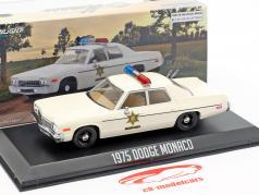Dodge Monaco Hazzard County Sheriff Bouwjaar 1975 wit 1:43 Greenlight