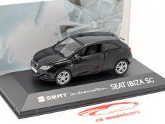 Seat Ibiza SC zwart 1:43 Seat