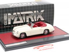 Alfa Romeo 6C 2500 Ghia Convertible Open Top 1947 cream white 1:43 Matrix
