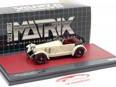 Invicta 4.5-litre S-Type Low Chassis Tourer Open Top 1930 cream White 1:43 Matrix