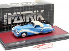 Talbot-Lago T26 GS Cabriolet Saoutchik Closed Top 1948 blue 1:43 Matrix