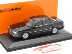 Audi V8 (4C) Opførselsår 1988 sort metallisk 1:43 Minichamps