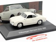 Volkswagen VW Karmann Ghia año de construcción 1962 blanco 1:43 Altaya