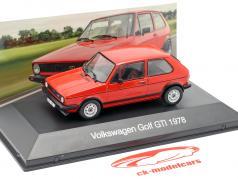 Volkswagen VW Golf GTI année de construction 1978 rouge 1:43 Altaya