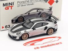 Porsche 911 (991 II) GT2 RS Weissach Package LHD silver metallic 1:64 TrueScale
