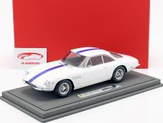 Ferrari 500 Superfast Series II anno di costruzione 1965 bianco con blu striscia 1:18 BBR