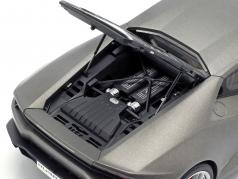 Lamborghini Huracan LP610-4 Año 2014 titanio mate gris 1:18 AUTOart