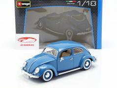 Volkswagen VW Beetle year 1955 blue 1:18 Bburago