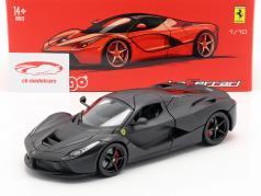 Ferrari LaFerrari Year 2013 Matt black 1:18 Bburago Signature