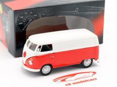 Volkswagen VW T1 transporter wit / rood 1:43 Cararama