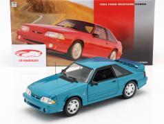 Ford Mustang Cobra année de construction 1993 bleu vert 1:18 GMP