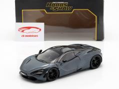 Shaw's McLaren 720S Film Fast & Furious Hobbs & Shaw (2019) grau metallic 1:24 Jada Toys