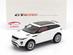 Land Rover Range Rover Evoque year 2011 white 1:18 Welly GTA