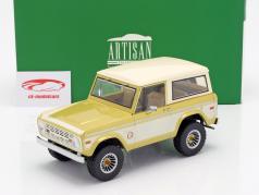 Ford Bronco Colorado Gold Rush 1976 ouro / creme branco 1:18 Greenlight