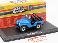 Jeep CJ-5 1972 série de TV Mork & Mindy 1978-82 azul 1:43 Greenlight