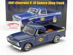 Chevrolet C-10 Pick-Up Truck Sunoco Baujahr 1967 blau 1:18 GMP