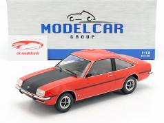 Opel Manta B SR Bouwjaar 1975 rood / mat zwart 1:18 Model Car Group