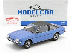 Opel Manta B Berlinetta Bouwjaar 1975 blauw metalen 1:18 Model Car Group