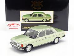 Mercedes-Benz 280E (W123) année de construction 1977 brillant vert métallique 1:18 KK-Scale