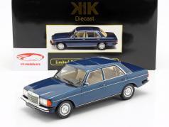 Mercedes-Benz 280E (W123) année de construction 1977 bleu foncé métallique 1:18 KK-Scale