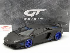 Lamborghini Aventador LB-Works year 2017 mat black / blue 1:12 GT-Spirit