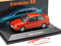 Seat Cordoba SX year 1996 orange red metallic 1:43 Seat