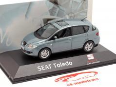 Seat Toledo III année de construction 2004-2009 gris bleu métallique 1:43 Seat
