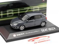 Seat Ibiza IV année de construction 2008-2017 gris foncé métallique 1:43 Seat