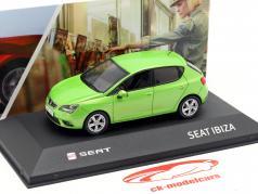Seat Ibiza IV year 2008-2017 face green metallic 1:43 Seat