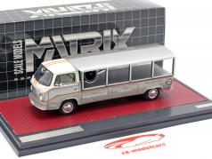 Volkswagen VW T2 Race Transporter année de construction 1976 blanc / gris 1:43 Matrix