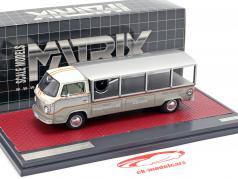 Volkswagen VW T2 Race Transporter Bouwjaar 1976 wit / grijs 1:43 Matrix