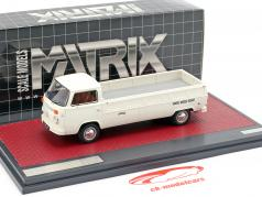 Volkswagen VW T2 Kemperink Speciaal Pick-Up Baujahr 1976 weiß 1:43 Matrix