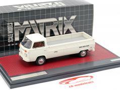 Volkswagen VW T2 Kemperink Speciaal Pick-Up Bouwjaar 1976 wit 1:43 Matrix