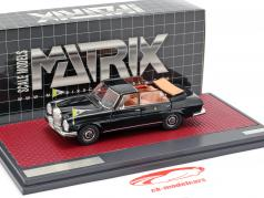 Mercedes-Benz 300SEL Landaulette Vaticaan City Open Top 1967 zwart 1:43 Matrix